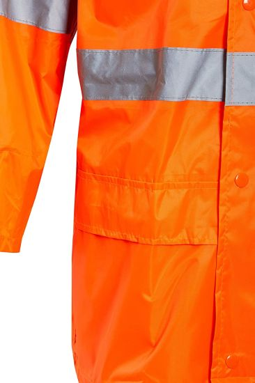 Unisex Plain Rain Suit 2 Piece High Visibility Rain Jacket Trouser Waterproof Workwear