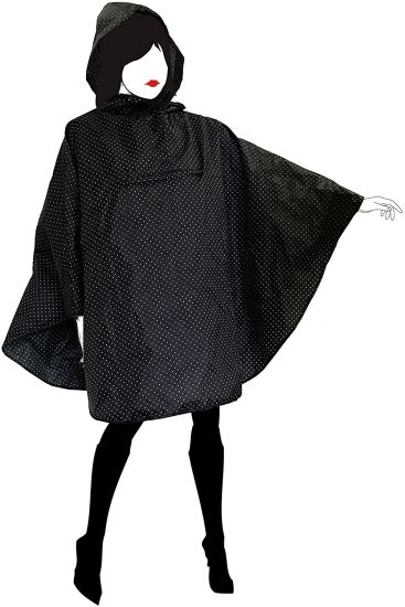 Rain Poncho with Hood for Women, Highly Resistant and Waterproof Material for Outdoor Activities