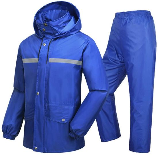 Rain Pants Motorcycle Adult Single Riding Split Raincoat Set Waterproof (Color: Blue, Size: XXXXL)