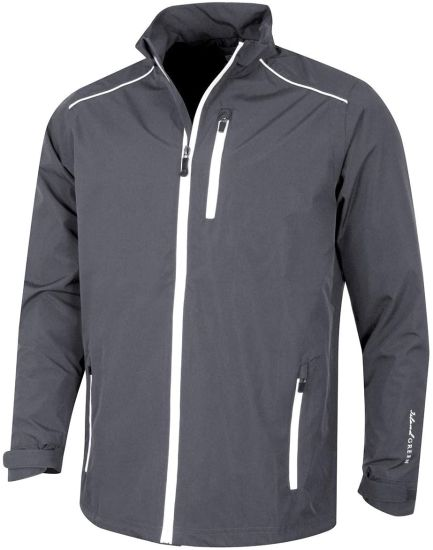 Mens Zip Through Waterproof Windproof Breathable Sports Rain Jacket