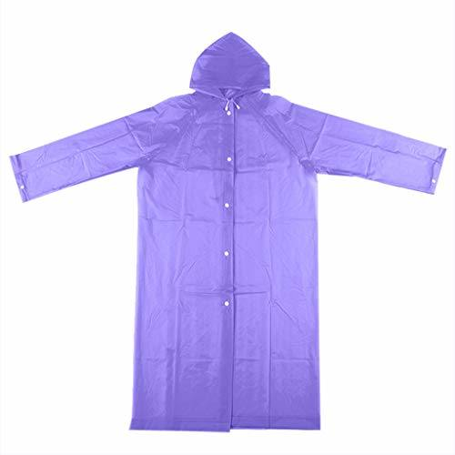 Ladies Waterproof Transparent Long Raincoat, Men Lightweight White Rain Coat Poncho with Hoodie
