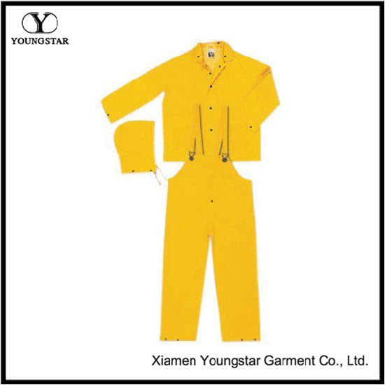 Unisex Bibs Workwear 3 Piece Rain Suits for Fishing