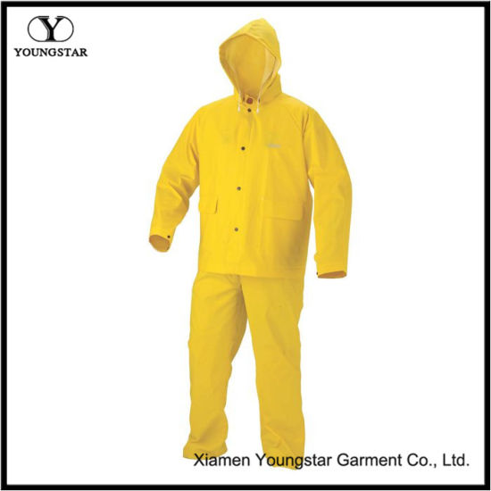 Cheap Two-Piece Adult PVC Rainsuit / Rain Suit