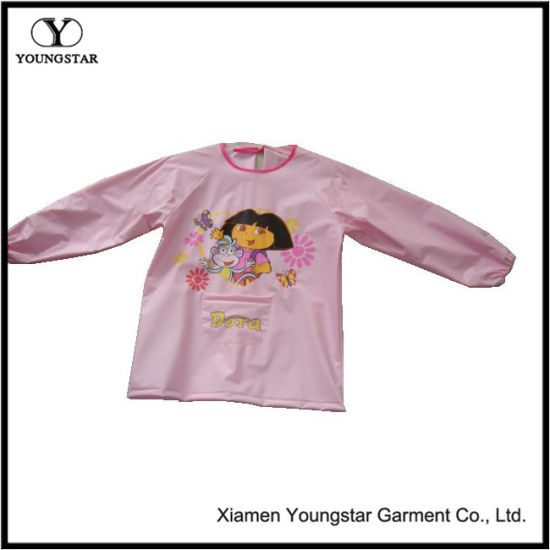 Smock Waterproof Dirt Painting Clothing Waterproof Baby Girl Boy Long Sleeve Cartoon Apron Bibs