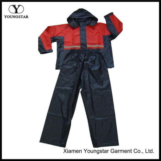 PVC Coated Waterproof Rainsuit / Rain Suit for Outdoor Travel