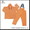 2 Piece Waterproof Rain Suit PU Orange Work Overalls