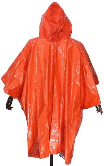 Raincoat Waterproof Rain Coat Dichromatic Rain Poncho for Hiking Camping Travel Outdoor Events