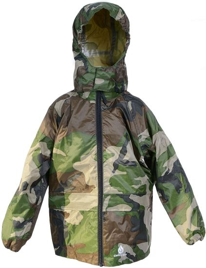 Kids Packaway Waterproof Jacket. Unisex Coat Ideal for Outside Play. Matches Drykids Overtrousers Dk002