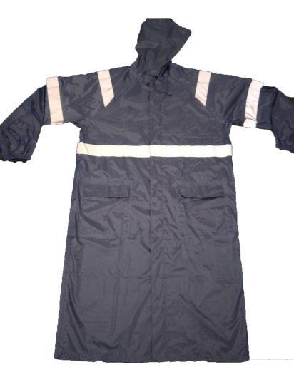 High Reflective Workwear Adult Long Jacket Style Safety Raincoat