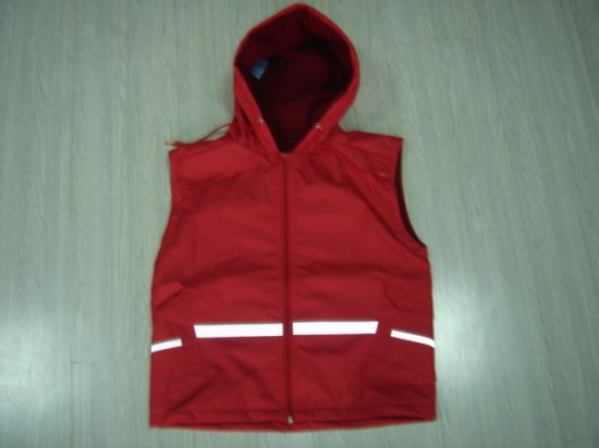 Safety Reflective Red Rain Vest Jacket Fashionable Rain Coats