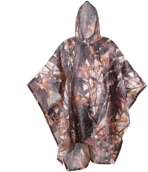Rain Poncho with Carry Pouch, Multifunctional Lightweight Raincoat with Hood, Reusable Waterproof Raincoat Poncho for Bike Hiking Camping Outdoor Festiva