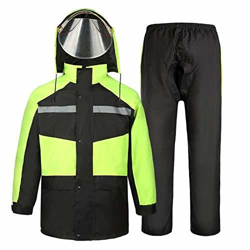 Rain Suit for Men and Women Reusable Rainwear (Rain Jacket and Rain Pants Set) Adults Waterproof Rainproof Windproof Hooded