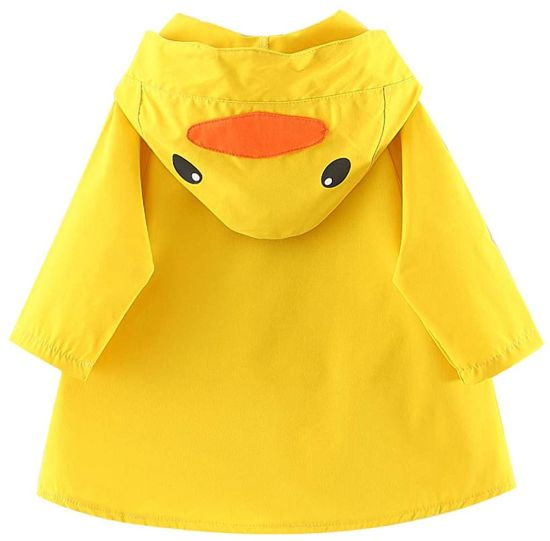 Kids Boy Girl Duck Raincoat Cartoon Jacket Hooded Outwear Baby Fall Winter Jacket Coat Outfit