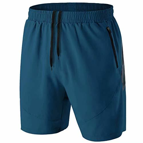 Men′s Sport Shorts Quick Dry Running Gym Casual Short Lightweight with Zip Pockets