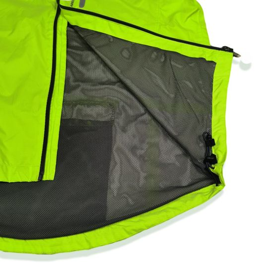 Outdoor Fluorescent Raincoat Long Coat Mountaineering Camp Windbreaker