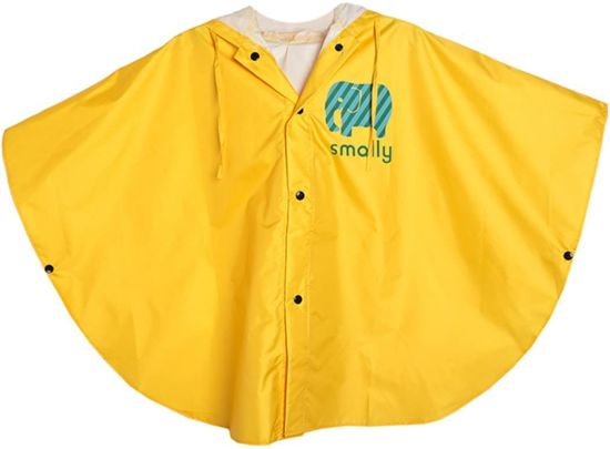 Unisex Kid′s Raincoat Girls Boys Hooded Waterproof Rain Poncho, 100-120cm Yellow