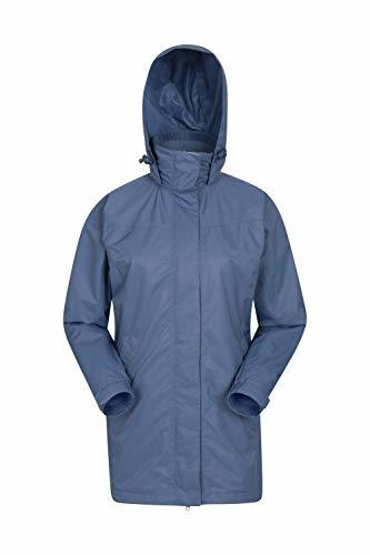 Mountain Warehouse Guelder Womens Winter Long Jacket - Waterproof Rain Coat, Zipped Ladies Coat, Taped Seams, Pack Away Hoodie, Casual Jacket - for Autumn Trave