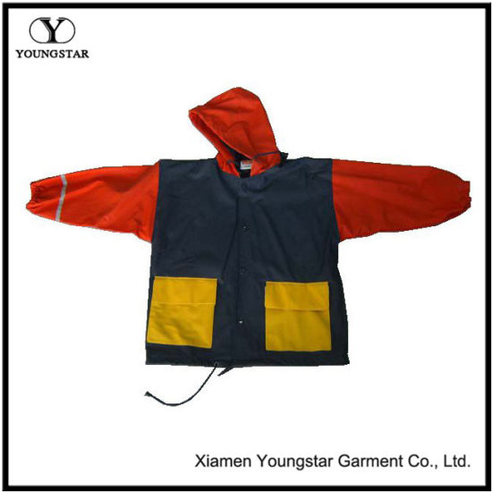 Waterproof Rain Jacket Reflective Baby Raincoat for Boy