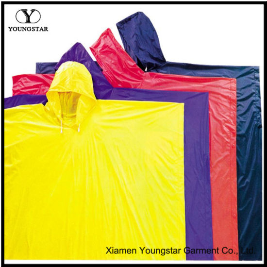 Customize Design PVC Rain Poncho for Adult or Children