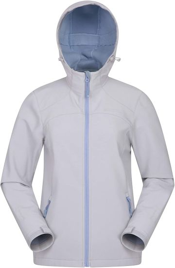 Water Resistant Outerwear, Windproof Shell Jacket, Bonded Fabric Windbreaker -Best for Winter, Travelling, Camping