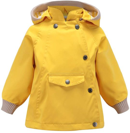 Girls Casual Waterproof Raincoat Windproof Trekking Jacket Kids Autumn Winter Climbing Jacket with Removable Hood