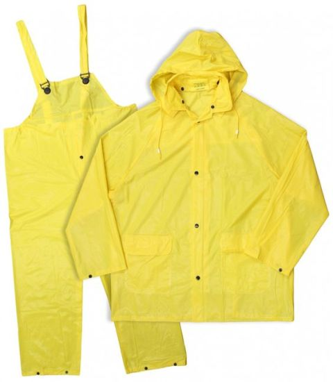 Waterproof PVC Rain Suit Yellow Raincoats Rain Jackets