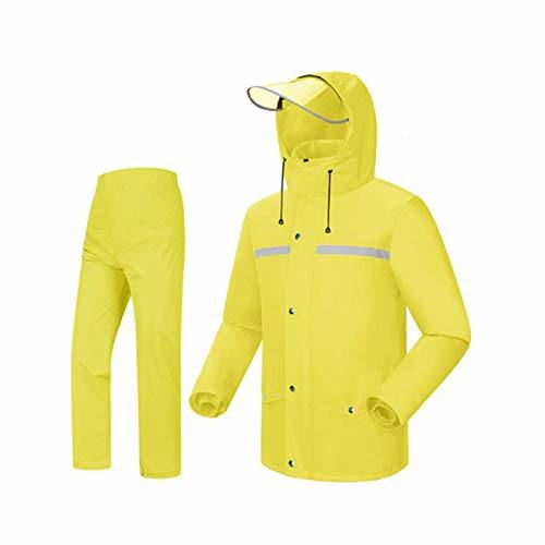 Raincoat Rain Pants Suit Split Raincoat Camping Equipment Waterproof Reflective Poncho Foldable,Waterproof Jacket/Pants Set Adult Windproof Coat/Pants Set Rainc