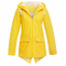 Womens Waterproof Jacket with Hood Lightweight Rain Jacket Active Outdoor Hooded Raincoat Lined Women′s Long Sleeve Zipped Trench Coats, Outerwear with Hood for